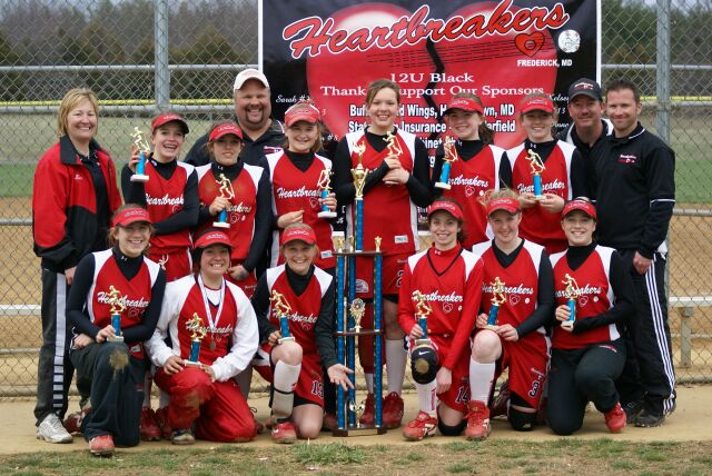 HEARTBREAKERS 12U BLACK -- FREDERICK, MD