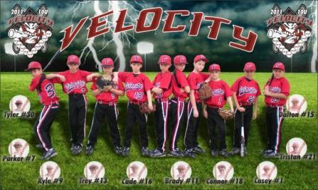 VELOCITY BASEBALL RED -- DENHAM SPRINGS, LA